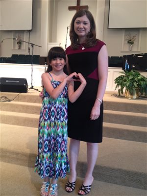 Mrs. Belinda with Christine at Spring Recital 2015