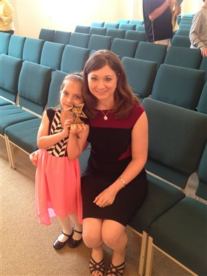 Mrs. Belinda with Kaylynn at Spring Recital 2015